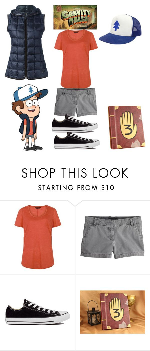 """""""Dipper pines-gravity falls"""" by gabbygainer ❤ liked on Polyvore featuring J.Crew, Converse, FAY, women's clothing, women, female, woman, misses and juniors"""