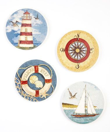 Another great find on #zulily! Pelican Reef Coaster Set by CounterArt #zulilyfinds