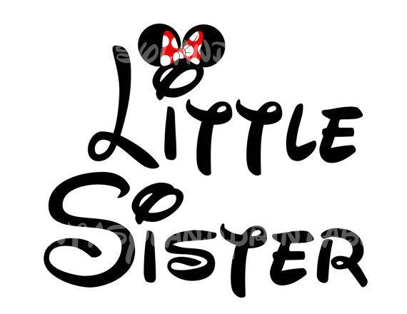 Little Sister Minnie Mouse  Mickey DIY Printable Iron Transfer Disney trip shirt vacation Disney Family Cruise Wedding