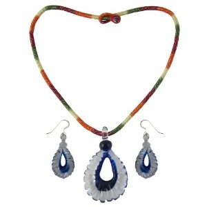 Costume Jewelry Pendant and Earrings Set Crystal Handmade In India (Jewelry)  http://documentaries.me.uk/other.php?p=B007UXF3BQ  B007UXF3BQ