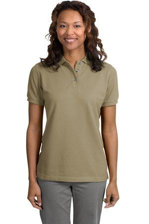 Port Authority Ladies Short Sleeve Cotton Pique Knit Sport Shirt Polo