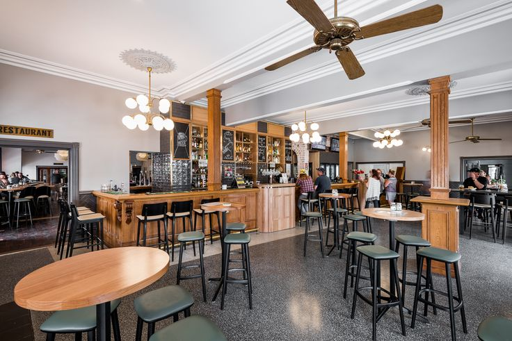 Hospitality Design by Benson Studio. Front Bar at the Historic Rose Hotel in Western Australia