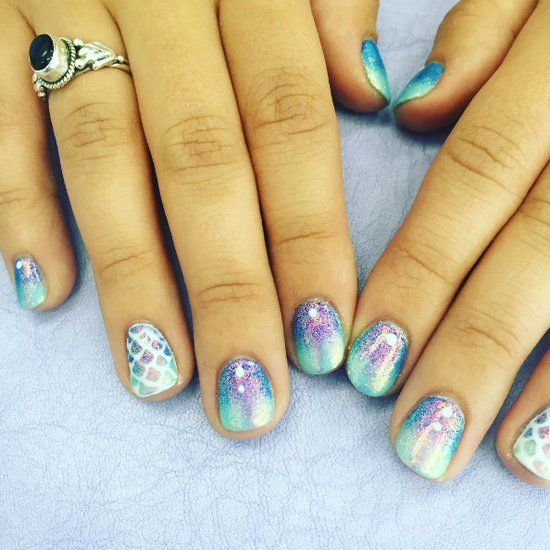 20 Marble Nail Art Tutorials That Are Truly Mesmerising - The 25+ Best Mermaid Nail Art Ideas On Pinterest Spring Nails