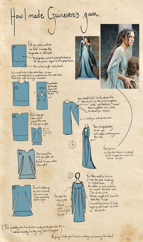 DIY Tutorial: DIY HALLOWEEN COSTUME / DIY Princess Costume: Guinevere Costume - Bead&Cord