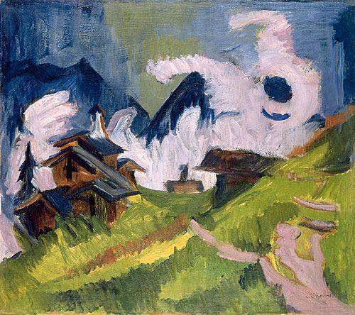 Ernst Ludwig Kirchner (1880-1938), Stafelalp in Fog, 1918, Oil on canvas, 71 x 80.5 cm, Museen der Stadt Aschaffenburg, loan from the Bayerische Landesstiftung.