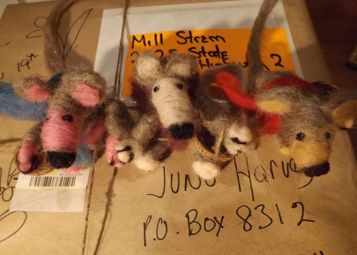 Three  brown mice