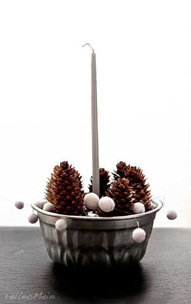 Weihnachtsdeko Gugelhupfform mit Tannenzapfen