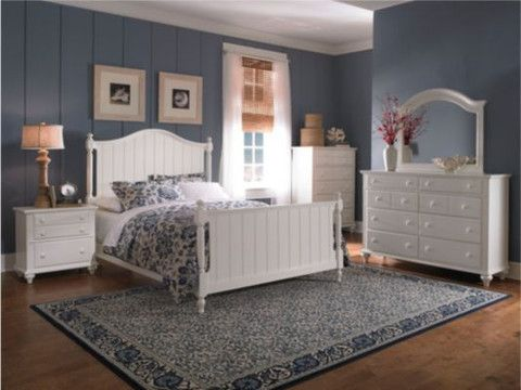 Hayden Place King Panel Bed - Linen White by Broyhill