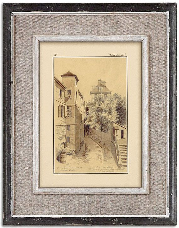 Rare detailed print of old Paris No.4 by J.A. by RoyalArtPrints