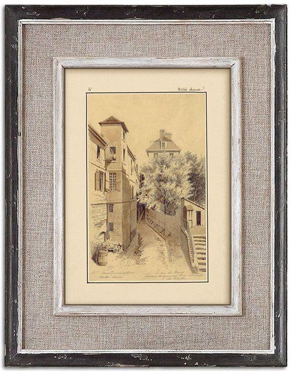 Rare detailed print of old Paris No.4 by J.A. by RoyalArtPrints