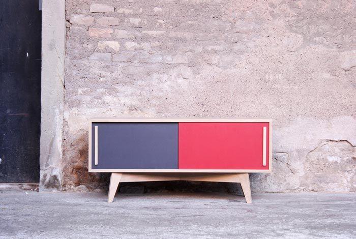 enfilade meuble tv esprit vintage cr ation gentlemen. Black Bedroom Furniture Sets. Home Design Ideas