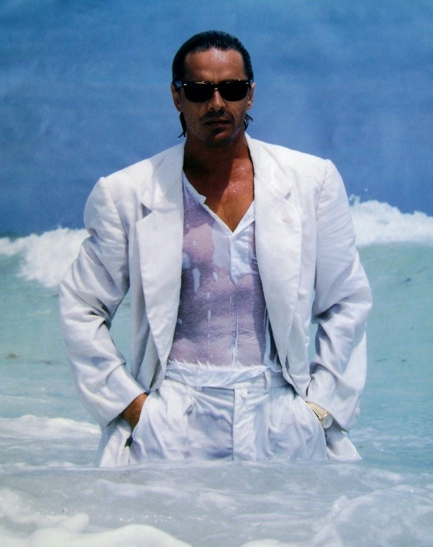 Don Johnson as Sonny Crockett. Miami Vice.                              …