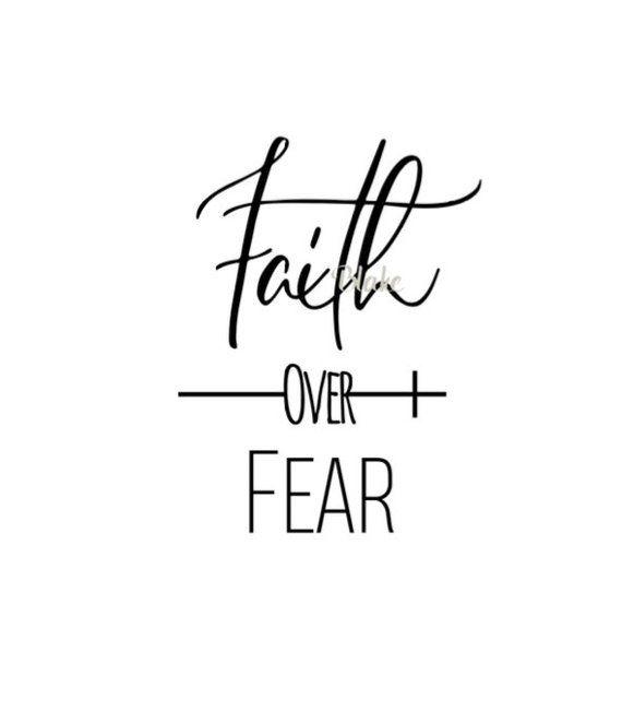Faith over fear svg cut file Christian svg file Christian svg Faith svg Jesus svg Religious svg cros