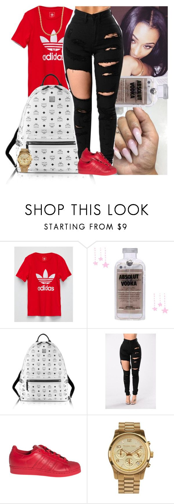 """""""Untitled #829"""" by msixo ❤ liked on Polyvore featuring adidas, Samsung, MCM, MICHAEL Michael Kors and Lord & Taylor"""