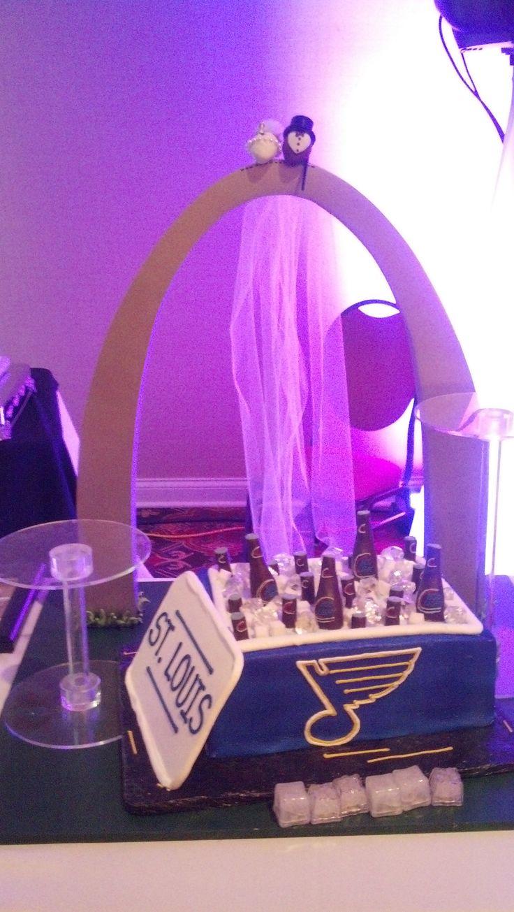 STLBlues Cool Wedding Cake Tko Djs CakesSt Louis