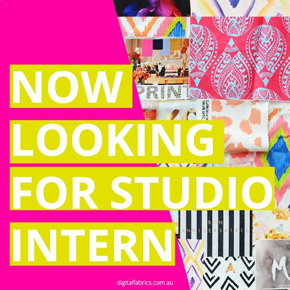 Our creative studio is growing and we are looking for a talented, enthusiastic and friendly intern with an opportunity to grow with us and join our team on a permanent basis after! http://www.digitalfabrics.com.au/jobs/