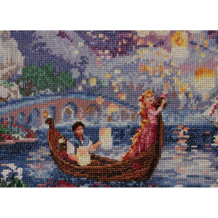 """Tangled Vignette Counted Cross Stitch Kit 5""""X7""""-5""""X7"""""""