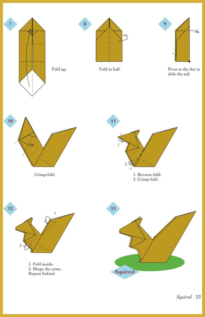 Beginners Origami Diagrams | Origami instructions for kids, Easy origami  animals, Origami dog face | 1086x703
