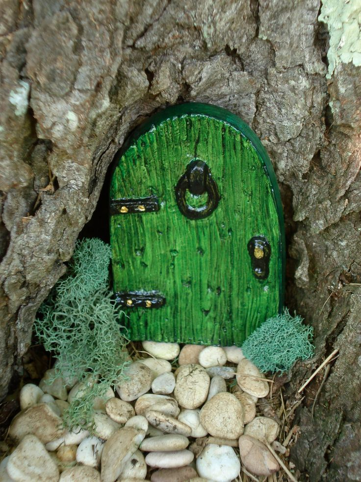 333 best fairyland ideas images on pinterest fairies for Gnome doors for trees