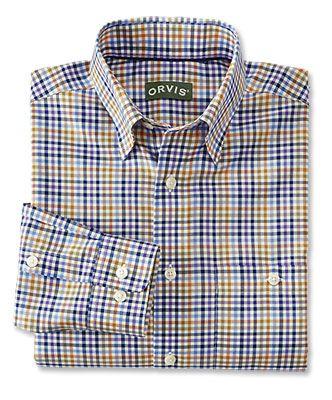Orvis Hidden-Button-Down Wrinkle-Free Cotton Twill Shirt
