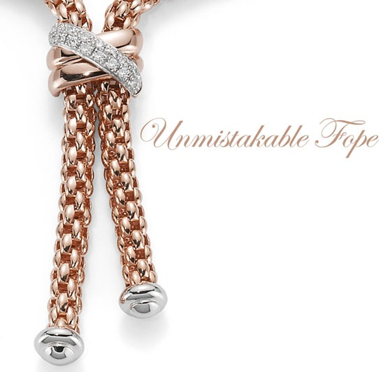 Flex'It Solo necklace in rose gold and diamonds