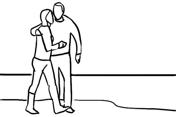 IDEAS DE POSES PARA TOMAR FOTOS A PAREJA: Otra variante es tomar a una pareja caminando juntos. Está vez la pareja puede caminar uno abrazado del otro. Otra vez, toma varias fotos para elegir cual es la mejor, recuerda tomar en cuenta el movimiento de las piernas.