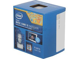 I'm going with an Intel Core i5-4670 Haswell 3.4GHz LGA 1150 for the CPU. 4th Gen Locked. On sale in a bundle at Fry's Electronics.