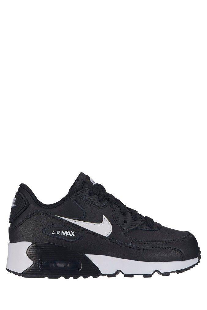 nike air max 90 black and white junior