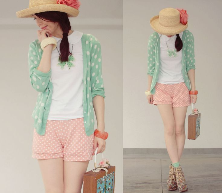 Sweet Polkadot Pastel Color Fashion