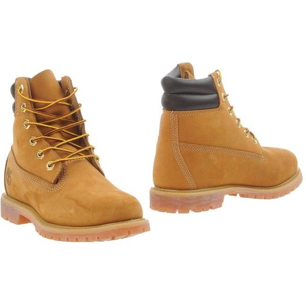 Timberland Ankle Boots ($286) ❤ liked on Polyvore featuring shoes, boots, ankle booties, camel, leather bootie, camel ankle boots, waterproof booties, water proof boots and leather booties