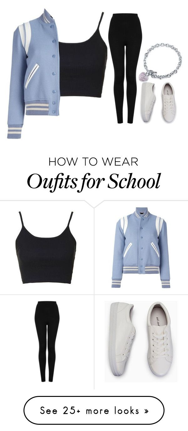 """school vibe"" by mazzyfaye on Polyvore featuring Topshop, Yves Saint Laurent and BERRICLE"