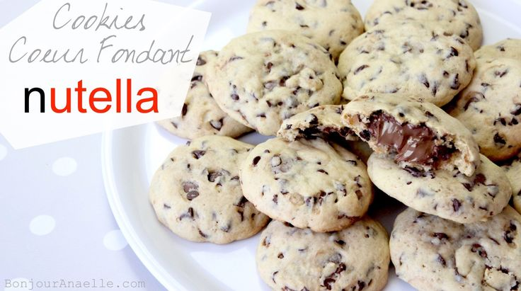 Bonjour Anaelle: Recette : Comment faire des Cookies Coeur Fondant Nutella ? Facile / Pâtisserie pour les nuls