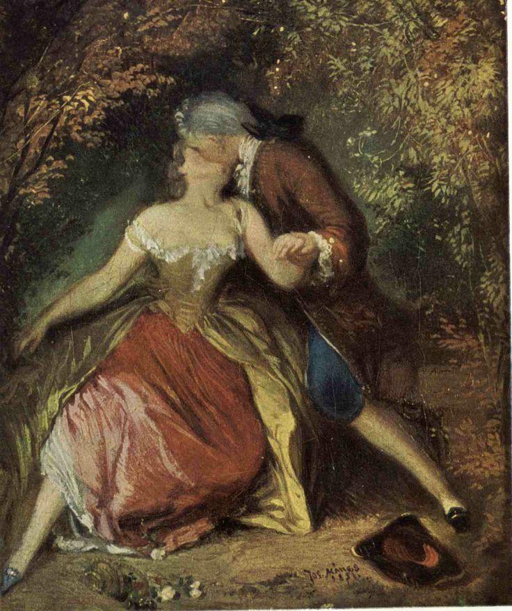 Políbění,Josef Mánes -druhé rokoko