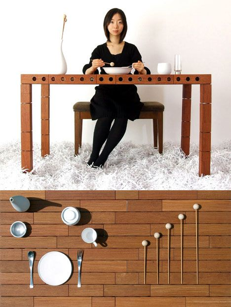 Weird Furniture: Music Dining Table
