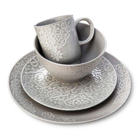 Tilla Stoneware Dinnerware Collection Grey - Threshold™ : Target