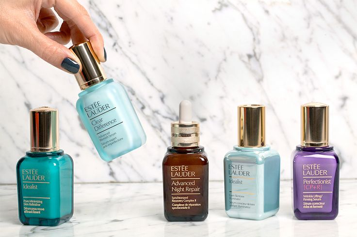 Which serum is right for you?  Advanced Night Repair, I would have to have this if I were stranded on a dessert island, and mascara.
