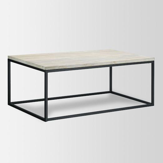 Box Frame Coffee Table, Whitewash