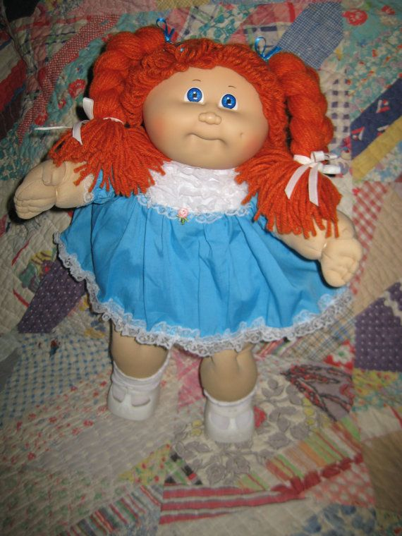 vintage cabbage patch kid doll ginger red hair girl adoption kid and cabbage patch kids. Black Bedroom Furniture Sets. Home Design Ideas