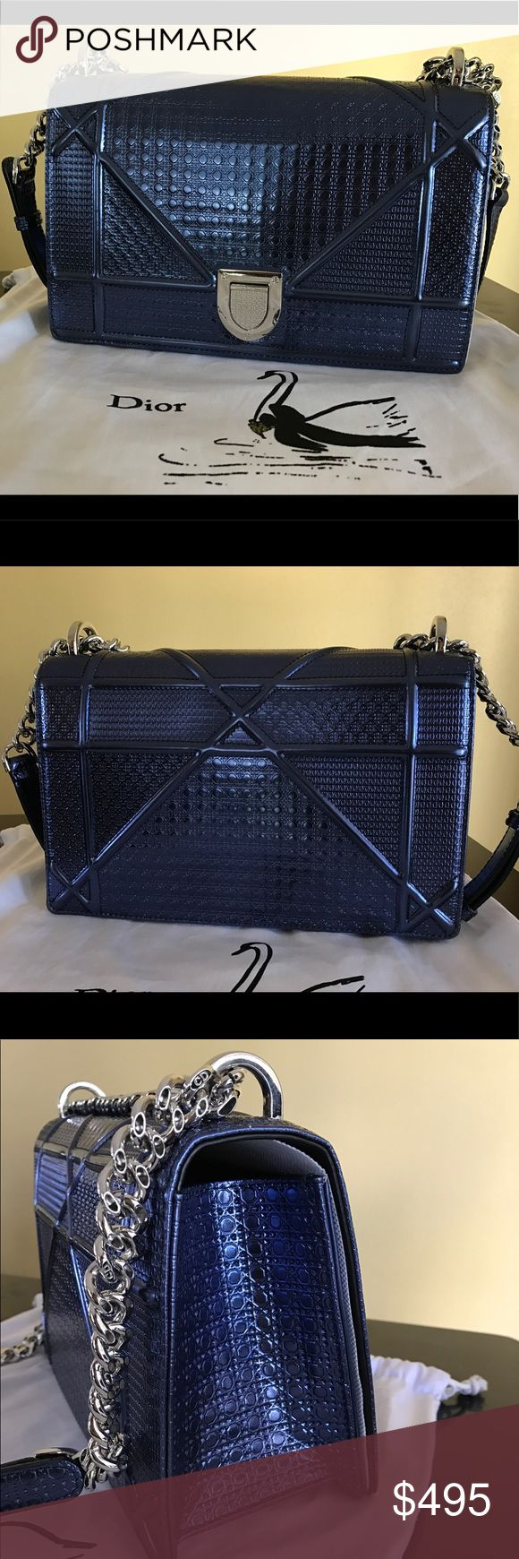 Dior Diorama Metallic Bag Gently used. Very gorgeous bag. Super amazing quality, very closed to the real one. Comes with dust bag. Let me know of you need to see more pics. PRICE FIRMED. NO TRADE. Thank you! Bags