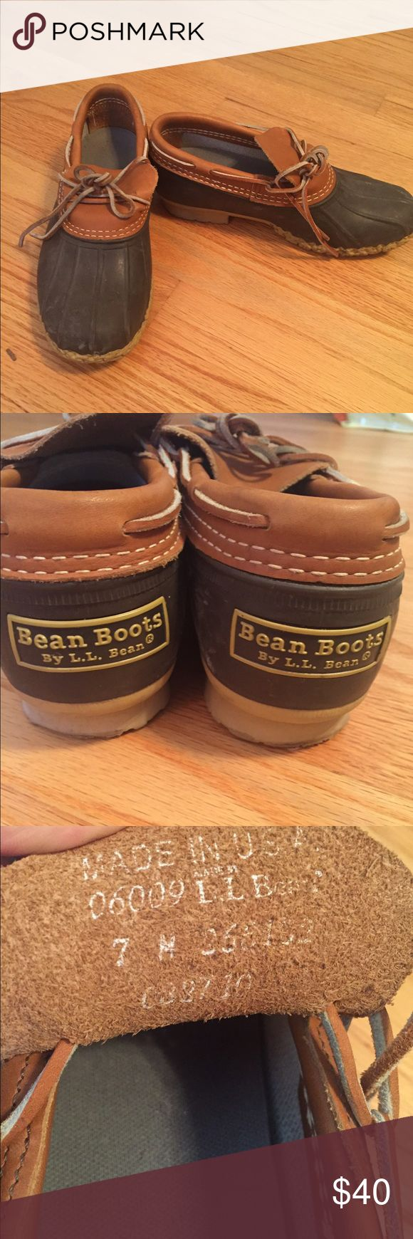 LL Bean Short Boots Gently worn LL Bean short boots. Worn only a handful of times and great condition! Size 7 (see inside tongue) but run a bit big. Ankle length with classic LL Bean logo on back L.L. Bean Shoes Ankle Boots & Booties