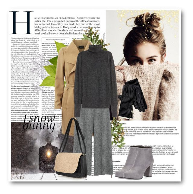 Snow bunny by annasalenkova on Polyvore featuring H&M, 1205, VILA, Prada, Clare V., Tommy Hilfiger and Crate and Barrel
