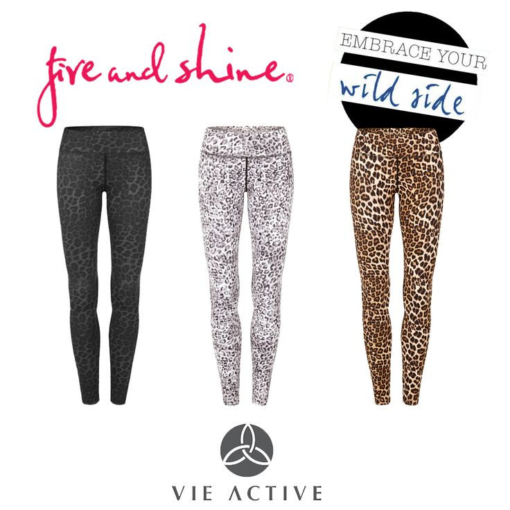Embrace your wild side with these Leopard print Rockell Elite Compression tights by Vie Active - $140.00 - Available on the Fire and Shine Website in Black, Snow and Leopard. #fireandshine #ethical #vieactive #animalprint #leopardprint #yoga #fashion #activewear #loungewear #barre #hiit #circuit #getthelook #style #tights #leggings