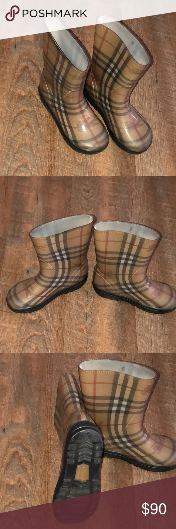 Burberry Kids Rain Boots 100% Authentic Burberry Kids Rain Boots. I NO LONGER HAVE THE BOX. Burberry Shoes Boots
