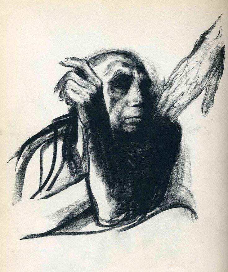 """Käthe Kollwitz, Appel de la Mort. Feuillet 8 de la série """"Mort"""", 1937, lithographie au crayon, Kn 269 b (Kl 263 b) © VG Bild-Kunst, Bonn 2005"""