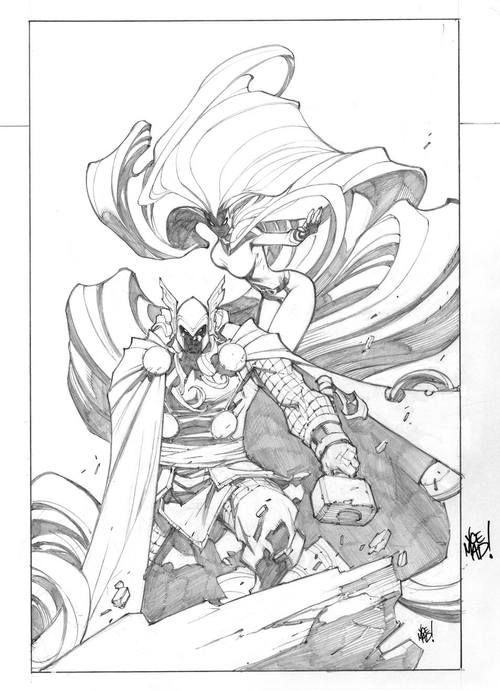 Thor and Medusa by Joe Madureira *
