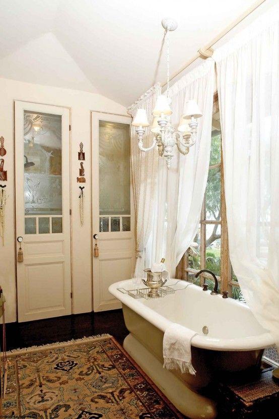 Photo Of paint in the bathroom vintage scandinavian style decor Vintage Bathroom Makeover Traditional Bathroom Decoration