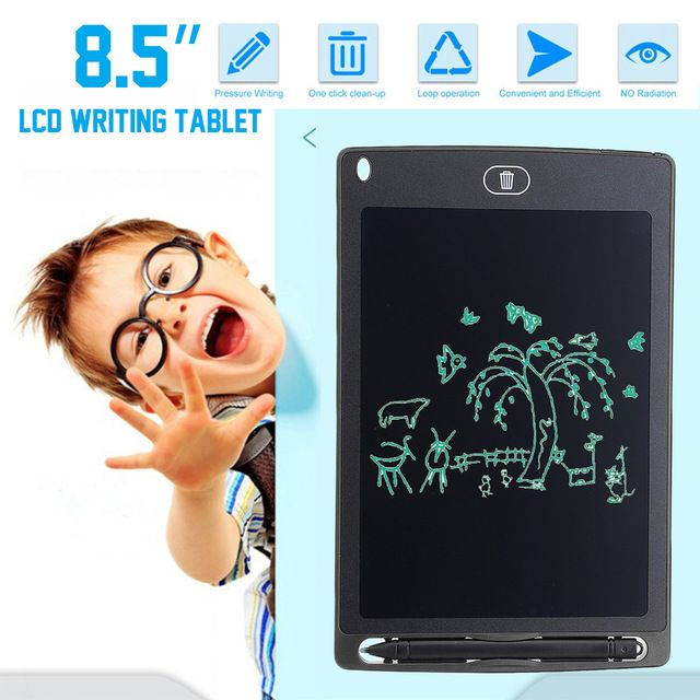 8 5lcd Writing Tablet Electronic Painting Drawing Children Mini Kids Pad Board Finger Ultra Slim Compact Portable Safety Colo Tablet Digital Tablet Writing Pad