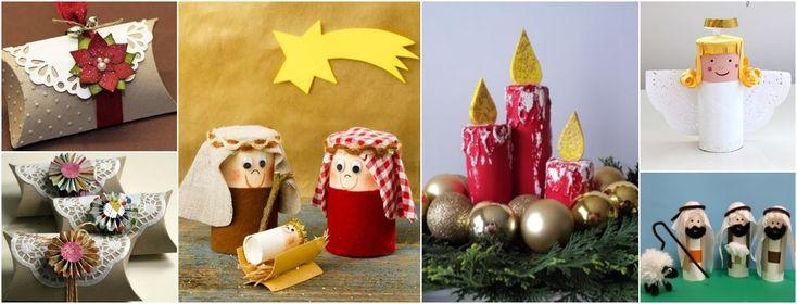 19 Manualidades navideñas muy creativas reciclando rollos de papel higiénico