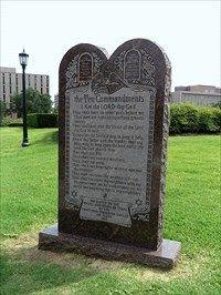 Texas State Capitol's Ten Commandments Monument - Austin, TX - News Article Locations on Waymarking.com