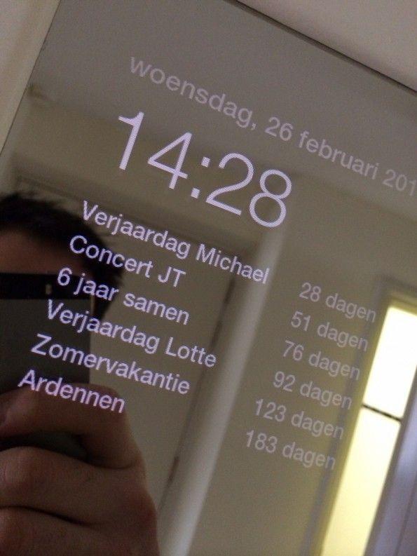 Der Spiegel zeigt zum Beispiel auch bevorstehende Jahrestage an. (Quelle: michaelteeuw.nl)